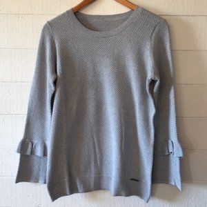 Michael Kors Silver Metallic Top Sweater M